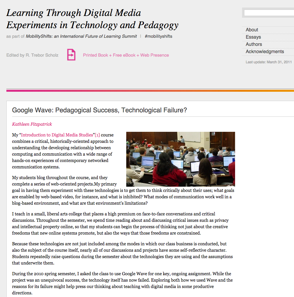 failure digital pedagogy in the humanities mla commons screenshot