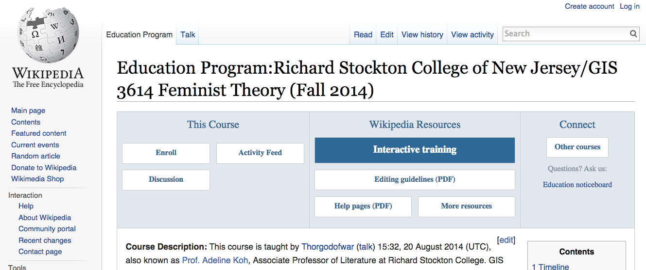 open-wikipedia-syllabus-for-feminist-theory