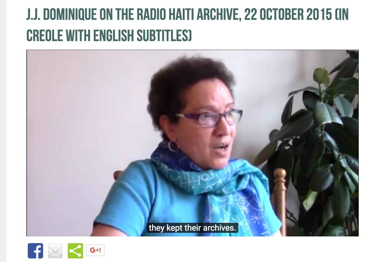 J.J. Dominique on the Radio Haiti archive