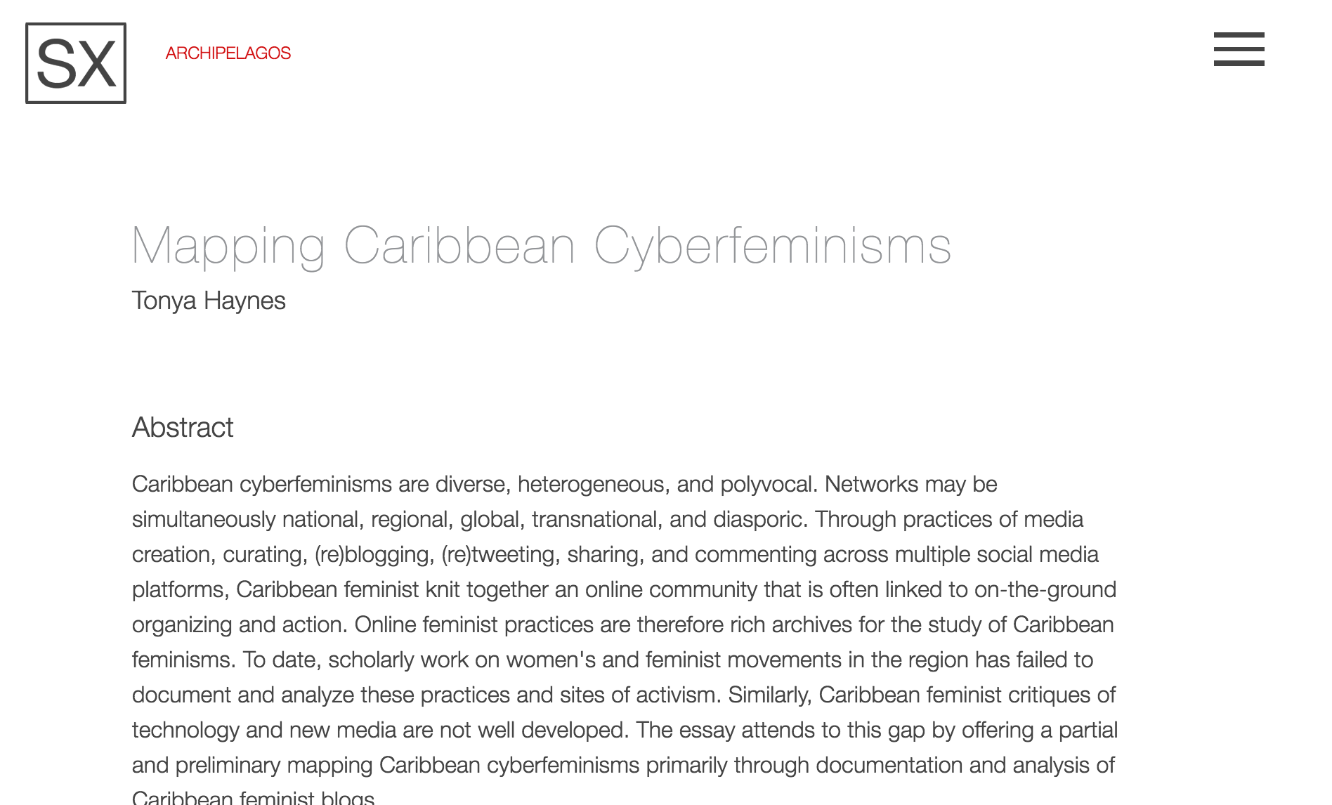 Mapping Caribbean Cyberfeminisms