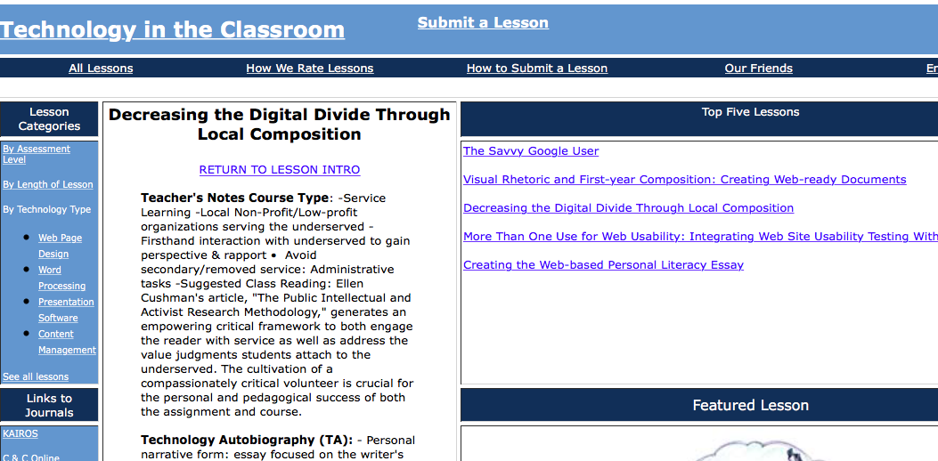 digital divides digital pedagogy in the humanities mla commons decreasing the digital divide through local composition screenshot