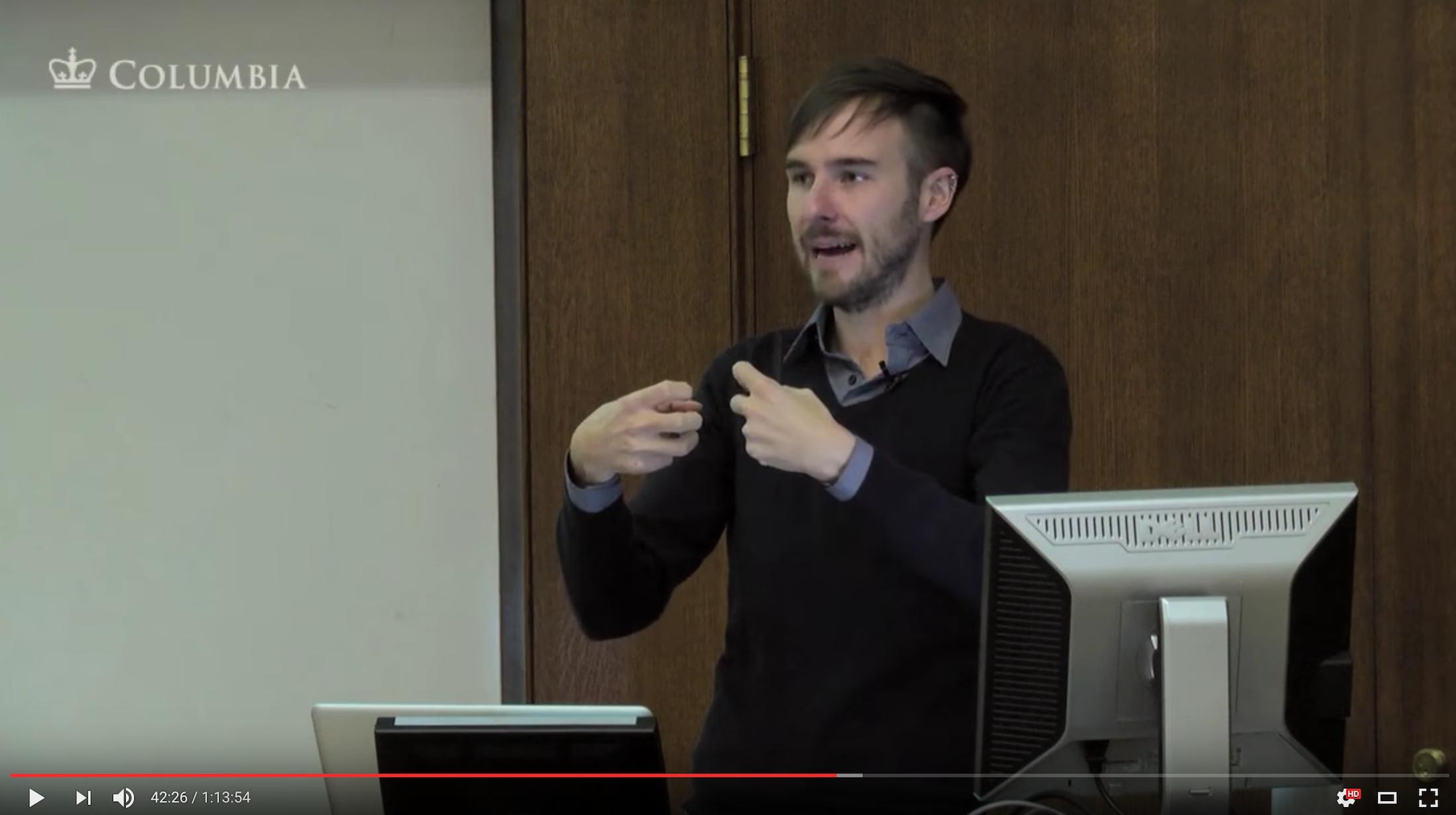 Screenshot of video of Chris Alen Sula